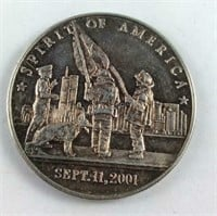 1 Troy Ounce Silver Round Sept 11 Tribute