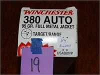 Winchester 380 Auto 95gr FMJ 84rnds
