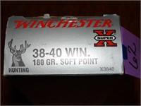 Winchester 38-40 180gr Soft Point Super X 50rnds