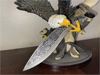 Eagle Display with Etched Knife