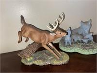 Deer and Wolf Figurines
