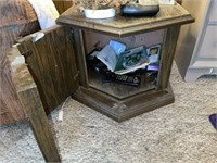 Recliner, End Table, Lamp, Horned Handled Cabinet