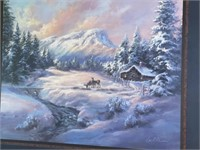 Lee K Parkinson Signed Winter Scenery Picture