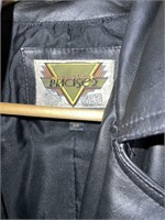 Phase 2 XXXL Big Long Black Leather Coat