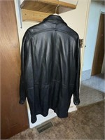 Luciano 2X Black Leather Coat