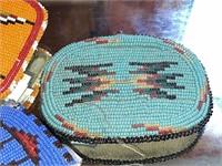 3) Hand Beaded Belt Buckles
