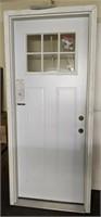 "32"" LH Masonite Prehung Steel Entry Door"