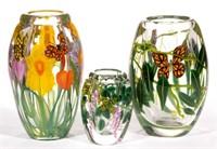 Selection of Steven Lundberg / Lundberg Studios Paperweight Vases