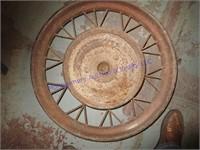 OLD CAR WHEEL