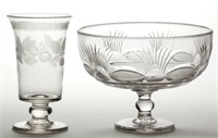 Good early cut/engraved glass including a fine Bakewell celery glass, ex-collection of Lowell Innes