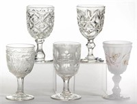 From the Teague collection of flint EAPG goblets