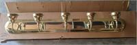 5 Light Brass Fixture