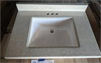 """24"""" Vanity Sink Top (square bowl)"""