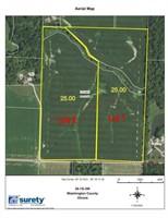 50-Acres Farmland Washington County, IL