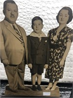 Family Portrait on Wooden Stand, Wooden