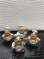 Lot of Four Ceramic Chefs