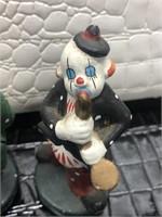 Lot of Four Ceramic Clowns