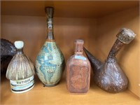 International decanters from Honduras, Bahamas,