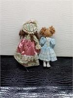 Pair of Vintage Porcelain Dolls