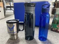Lot of cooler, portable drinking mugs, vintage