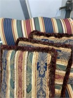 Colorful living room couch 72in. Long 26 arm