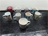 Lot of Nine Ceramic Mugs