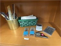 Gift cards for every occasion, calculators, pens