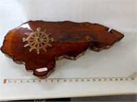 "Solid Wood ""Honduras"" Clock"