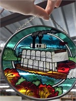 Lot of souvenirs and stained glass art