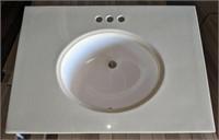 """30"""" Vanity Sink Top (round bowl)"""