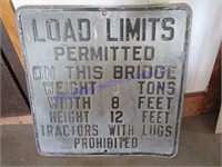 LOAD LIMITS  SIGN
