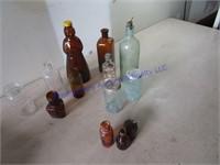 BROWN & GREEN GLASS