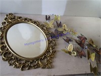 MIRROR & BUTTERFLY DECOR