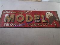 MODEL SMOKING TOBACCO SIGN