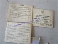 WAR RATION BOOKS & TOKENS