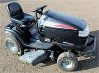 """Lot  #5004. Kohler Courage 19-hp eng, 42"""" deck, runs.   Absentee bidding available on this item.  Click catalog tab for more information"""