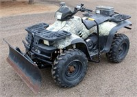 Lot # 5006.  2000 Polaris Sportsman 500 4-Wheeler, Remington Edition, 4x4, w/front snow blade, winch, 538.3 hrs / 1956.5 mi.   Absentee bidding available on this item.  Click catalog tab for more information.