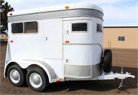 Lot # 5009.  1982 2-Horse Trailer, bumper-pull, 2-axle.  Absentee bidding available on this item.  Click catalog tab for more information.