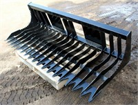 """Lot # 5011.  Skid Steer Rock Bucket, 75"""".  Absentee bidding available on this item.  Click catalog tab for more information."""