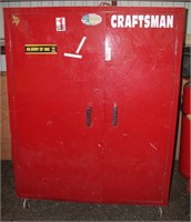 """Lot # 5016, HD Metal Storage Cabinet, on casters, 78"""" h x 30"""" d x 60"""" w.   Absentee bidding available on this item.  Click catalog tab for more information"""