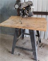 """Lot # 5025.  Craftsman 10"""" Radial Arm Saw.   Absentee bidding available on this item.  Click catalog tab for more information."""