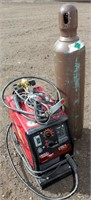 Lot # 5027.  Lincoln Electric 3200 Wire Feed Welder w/Argon Bottle.   Absentee bidding available on this item.  Click catalog tab for more information.