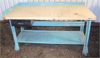 "Work/Shop Table #1, 60"" w x 30"" d x 33"" h, 1 drawer, bottom shelf"