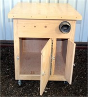 """HMD Dust Collector Cabinet, on casters, 26"""" d x 29 1/2"""" w x 36"""" h"""