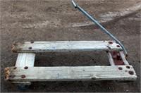 Vintage Wooden Cart on Casters