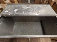 "Steel rolling storage box measuring 33 x 33"""