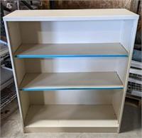 Metal shelving unit measuring 34 1/2 x 41 1/2 x