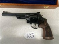 Smith & Wesson .44 Magnum Revolver w/ Wood Case