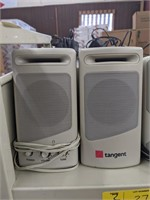 Two pairs of speakers. Tangent and Genius brands.