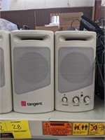 Two pairs of Tangent brand speakers. Bidding on